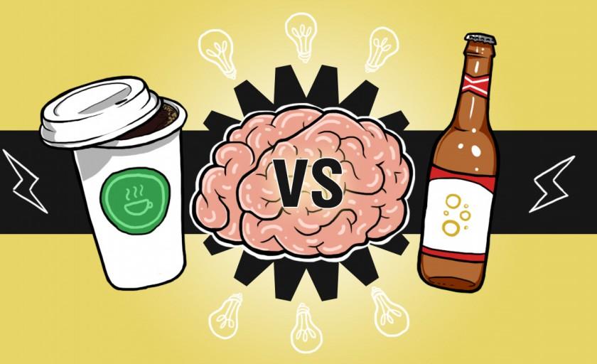 Beer or Coffee: Seu cérebro em ambas as bebidas [Infográfico]
