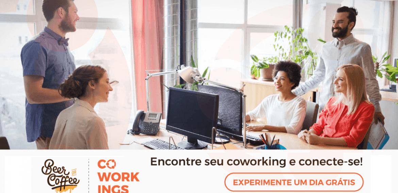 Experimente um dia de coworking grátis!