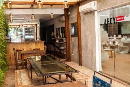 Cafeteria Ahoy! Berlim parede verde