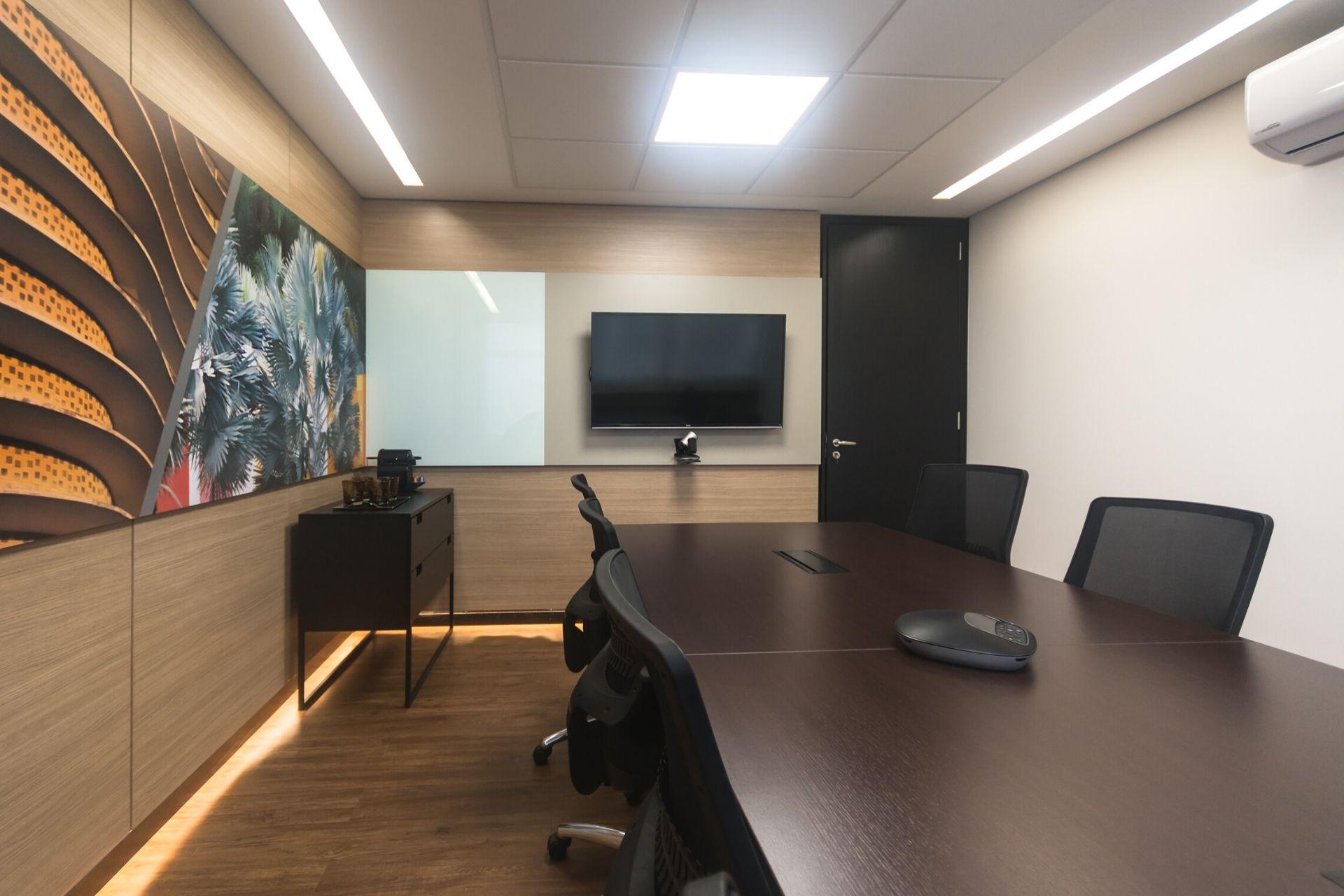 ambiente perfeito para uma sala de reunião