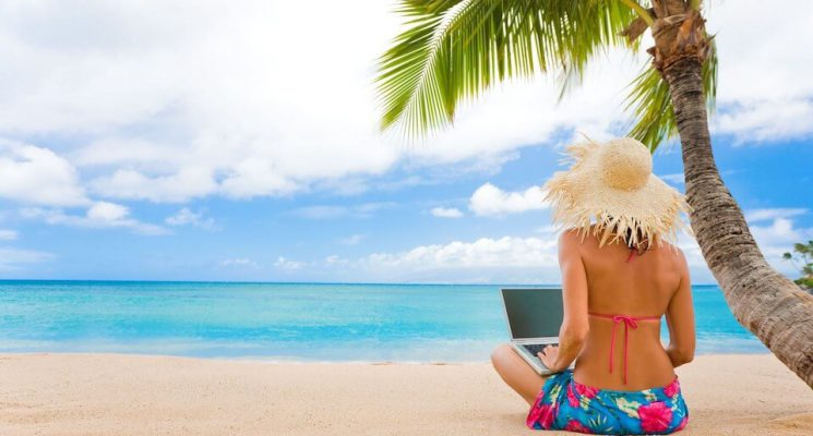 digital nomade praia